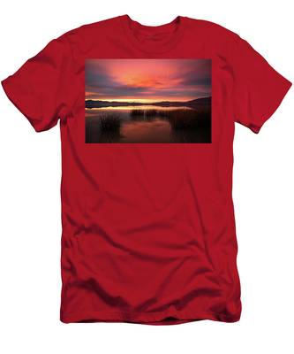Sunset Reeds On Utah Lake Men's T-Shirt (Athletic Fit)