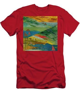 Sunset Sails 3 Men's T-Shirt (Athletic Fit)