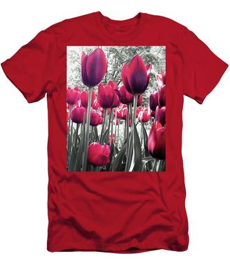 Tulips Tinted Men's T-Shirt (Athletic Fit)