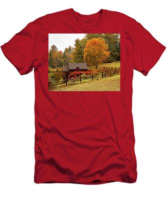 Old Crawford Farm Grist Mill Men's T-Shirt (Athletic Fit) by Jeff Folger