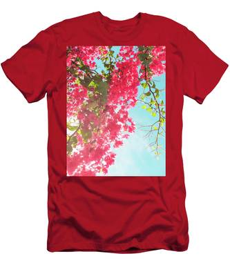 Men's T-Shirt (Athletic Fit) featuring the photograph Coral Bloom V by Anne Leven