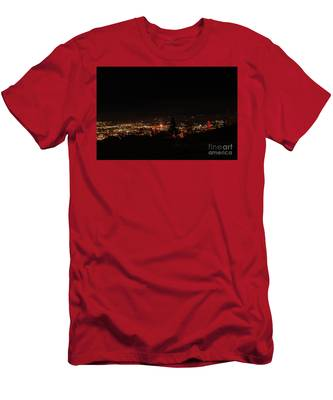 Headframes Outlined In Red Lights Men's T-Shirt (Athletic Fit)