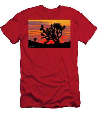 Joshua Tree At Sunset Men's T-Shirt (Athletic Fit)