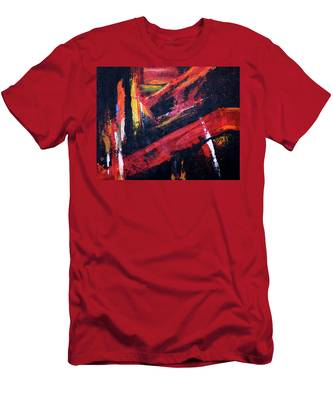 Lines Of Fire Men's T-Shirt (Athletic Fit)