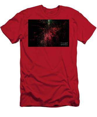 Mostly Red And White Fireworks Men's T-Shirt (Athletic Fit)