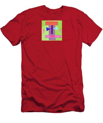 Men's T-Shirt (Athletic Fit) featuring the digital art Portrait Of Mom by Teresa Epps