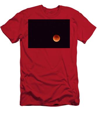 Men's T-Shirt (Athletic Fit) featuring the photograph Super Harvest Blood Moon by Carl Young