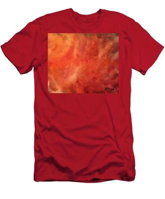 Tangerine Nebula Cloud Men's T-Shirt (Athletic Fit)