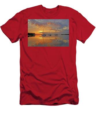 Tranquility Bay - Florida Sunrise Men's T-Shirt (Athletic Fit)