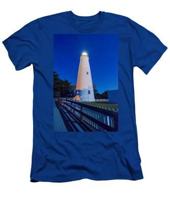 The Ocracoke Lighthouse On Ocracoke Island On The North Carolina Men's T-Shirt (Athletic Fit)