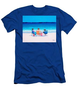 Beach Painting 'girl Friends' By Jan Matson Men's T-Shirt (Athletic Fit)