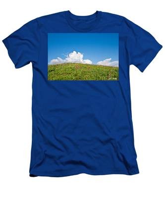Alpine Meadow And Cloud Formation Men's T-Shirt (Athletic Fit)