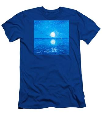 Moon And Stars Men's T-Shirt (Athletic Fit)
