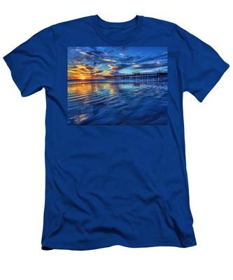 Sunset In Blue Men's T-Shirt (Athletic Fit)