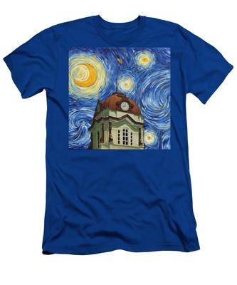 Van Gogh Courthouse Men's T-Shirt (Athletic Fit)
