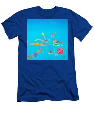 Beach Decor 'holiday Splash' By Jan Matson Men's T-Shirt (Athletic Fit)