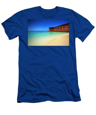 Beach Fort. Men's T-Shirt (Athletic Fit) by Evelyn Garcia