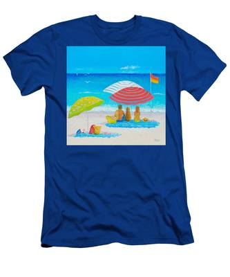 Beach Painting - Endless Summer Days Men's T-Shirt (Athletic Fit)