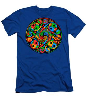 Celtic Stained Glass Spiral Men's T-Shirt (Athletic Fit)