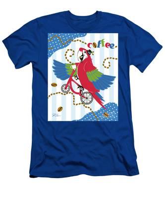 Coffee Parrot Men's T-Shirt (Athletic Fit)