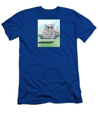 Men's T-Shirt (Athletic Fit) featuring the digital art Go Zen, Baby by Teresa Epps