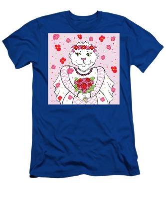 Kitty Bride Men's T-Shirt (Athletic Fit)
