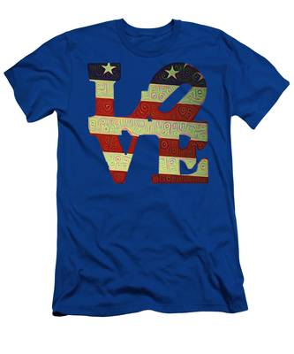 Men's T-Shirt (Athletic Fit) featuring the painting Love The Usa by Bill Cannon