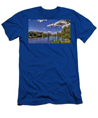 Pond At Verona Park Men's T-Shirt (Athletic Fit)