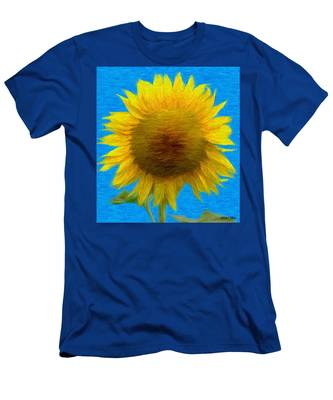 Portrait Of A Sunflower Men's T-Shirt (Athletic Fit)
