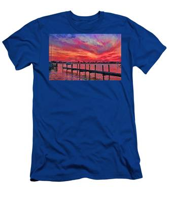 Sunset Impressionism Men's T-Shirt (Athletic Fit)