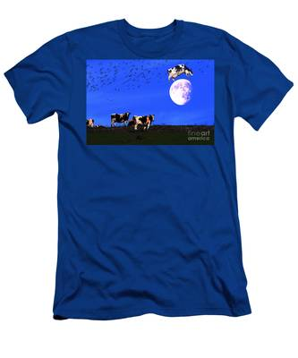 The Cow Jumped Over The Moon Men's T-Shirt (Athletic Fit)