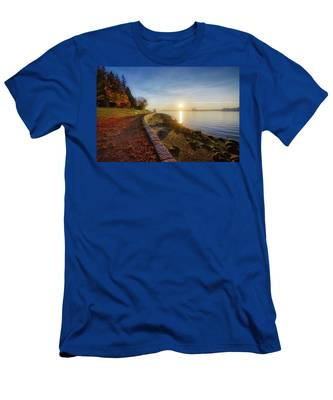 Colorful Autumn Sunrise At Stanley Park Men's T-Shirt (Athletic Fit)