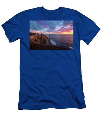 Colorful Sky After Sunset At Point Vicente Lighthouse Men's T-Shirt (Athletic Fit)