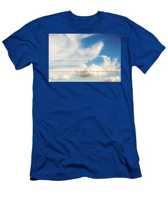 Men's T-Shirt (Athletic Fit) featuring the photograph Little Bird by Anne Leven