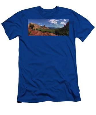 Mormon Canyon Panorama Men's T-Shirt (Athletic Fit) by Andy Konieczny