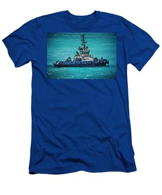 Salvage Tug Boat Men's T-Shirt (Athletic Fit)