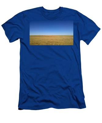 Men's T-Shirt (Athletic Fit) featuring the photograph Sea Of Grass by Carl Young