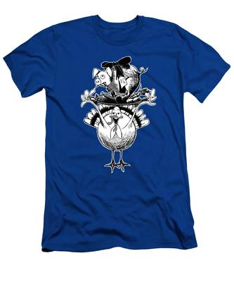 Turkey And Pig Men's T-Shirt (Athletic Fit)