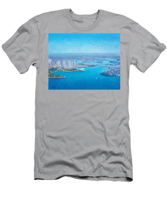 Sydney Harbour And The Opera House Aerial View  Men's T-Shirt (Athletic Fit)