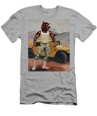 Arkansas Soldier Men's T-Shirt (Athletic Fit)