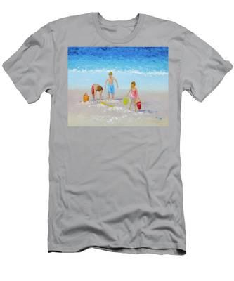 Beach Painting - Sandcastles Men's T-Shirt (Athletic Fit)