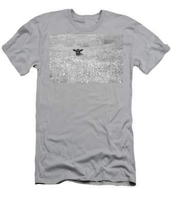 Buttercup In Black-and-white Men's T-Shirt (Athletic Fit)