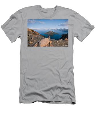 Crater Lake In The Evening Men's T-Shirt (Athletic Fit)