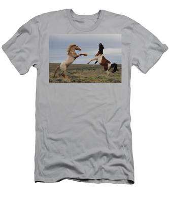 Men's T-Shirt (Athletic Fit) featuring the photograph Fist Fight  by Christy Pooschke
