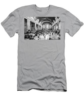 Grand Central Station -pano Bw Men's T-Shirt (Athletic Fit)