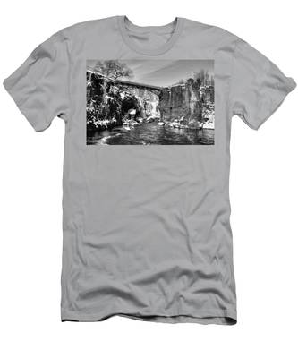 Great Falls In The Winter Men's T-Shirt (Athletic Fit)