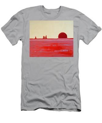 Hoodoo Sunrise Original Painting Men's T-Shirt (Athletic Fit)