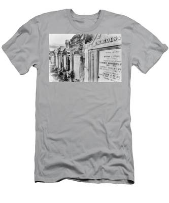 Lafayette Cemetery Black And White Men's T-Shirt (Athletic Fit)