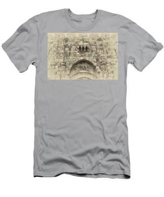 Lion Gate Jerusalem Old City Israel Men's T-Shirt (Athletic Fit)