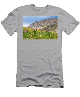 Meadow Of Fireweed Below The Continental Divide Men's T-Shirt (Athletic Fit)